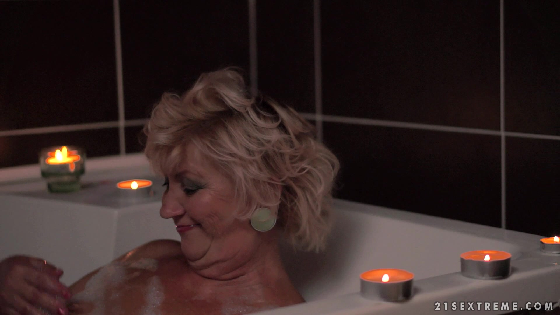 Blond Granny Having The Time Of Her Life Getting Fucked By Stud