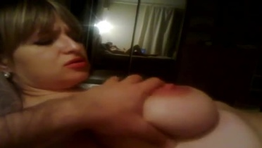 European milf girlfriend with hot love melons taking part in hardcore sex movie