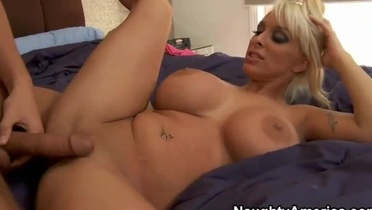 Milf with hot big boobs taking part in blowjob porn movie