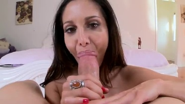 European Ava Addams with hot hooters in cock sucking porn video