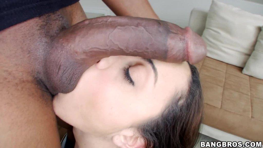 Petite White Girl Tries Big Back Cock