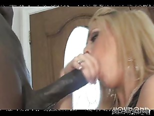 Horny blonde cougar loves that BBC