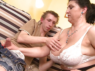 Gorgeous mother fucked hard by young boy and squirts