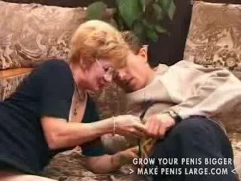 Granny Satisfies A Boy Creampie Part1