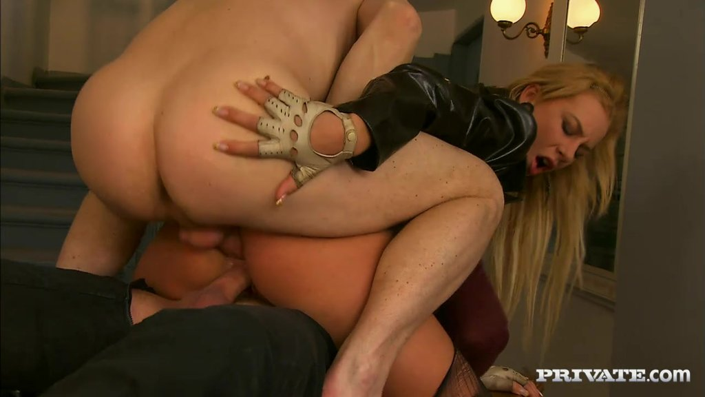 Angelina Love Gets Double Penetrated On A Table