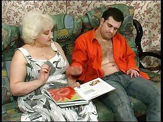 Kinky Blonde Granny Seduces Cock