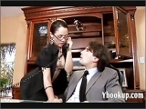 Big ass secretary gets a thick cock