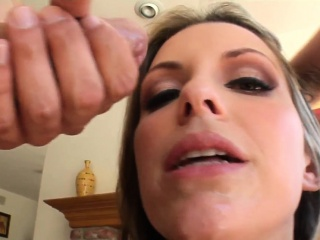 Jizz faced whore sucking