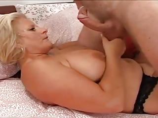 Big boobed mature anal.