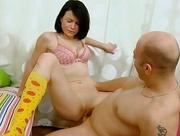 Virgin babe gets lusty examination