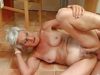 Silver 80 Year Old Gran Loves Cock N Cum ! - Grannies porn