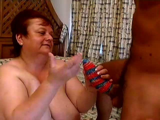 Fat Granny Miranda Plays With A Cock Before Taking It In Her Ass