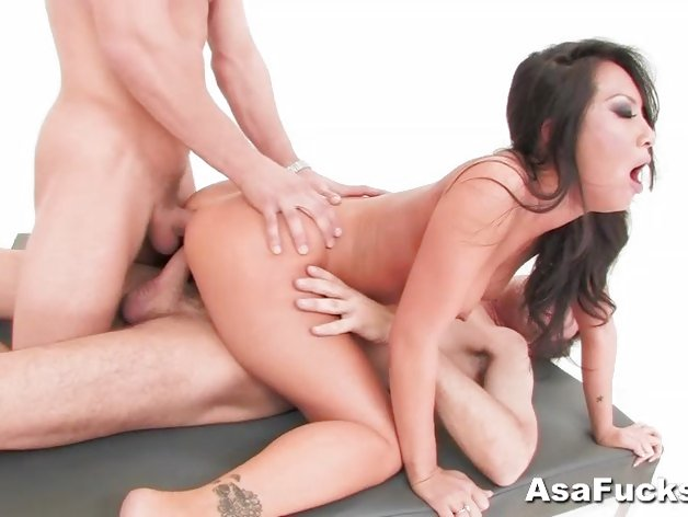 Sexy Asa Akira's Double Anal and Double Penetration