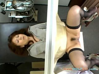 Asian Milf Fucked By 2 Gynecologist and creampied