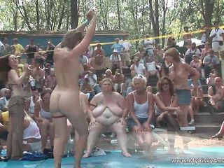Huge party outdoor becomes really nasty movie