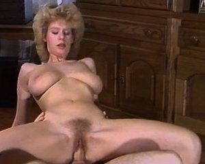 Retro porn video with Desiree Barclay sucking cock and riding it - Homemade porn
