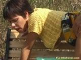 Amateur Slut gets anal fuck in park