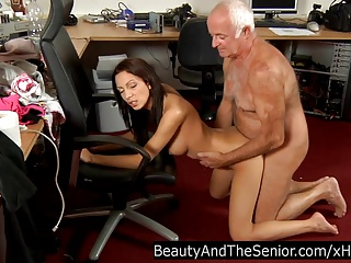 Teen nymph fuck an old dude