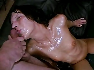 Bukkake Cum Slut Gets Covered By ENDLESS Sperm