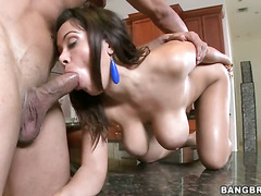 Brunette Sienna West with phat butt is just a