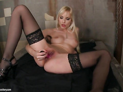 Blonde Lena Cova with needy wet hole goes solo