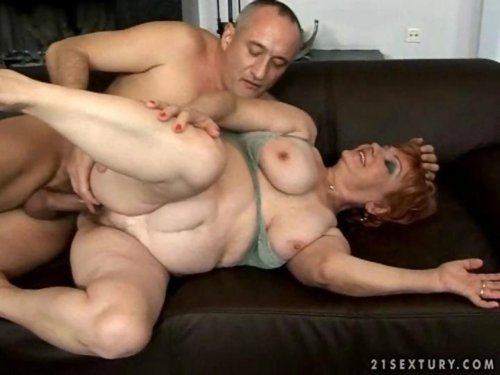 Fat grandma enjoys hard sex