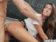 Schoolgirl fucked hard by teacher