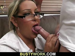 Busty hottie loves riding his hard meat