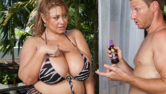 Ask for some suntan lotion - Mature porn