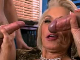 Granny Likes Two Cocks - Grannies porn
