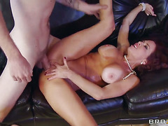 Veronica Avluv loves the way Danny D s pole