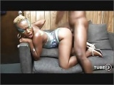 black pornstar hardsex on couch