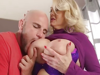 Beautiful mom with very giant tasty boobs & guy