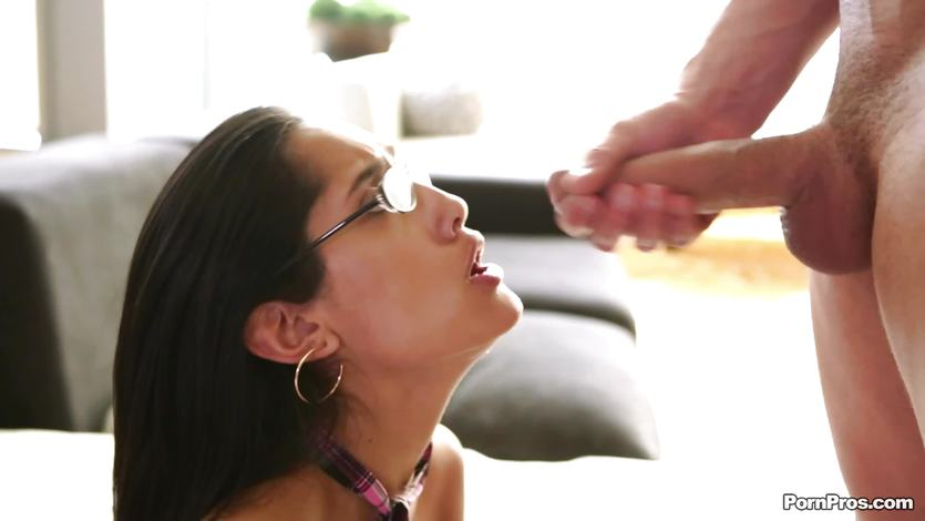 Chloe Amours glasses are covered in cum | PornTube ®