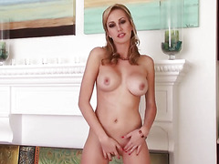 Brett Rossi with massive jugs and hairless twat