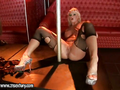 Blonde Harmony Flame with juicy hooters strokes
