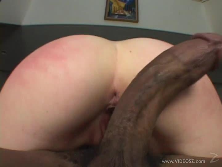 Huge Black Cock Destroys Amber Rain's Pink Pussy