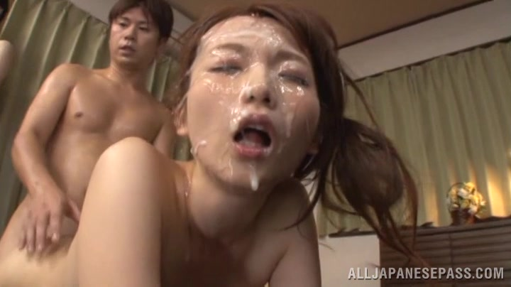 Delightful Miyuki Matsush Gets A Giant Cumshot On Her Face
