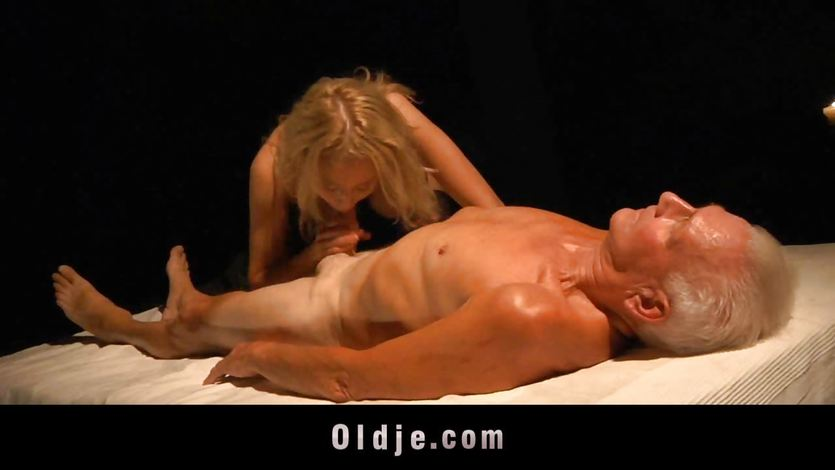 Old man lured to fuck a nympho busty blonde | PornTube ®