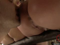 Katsuni gets her ass attacked by Rocco