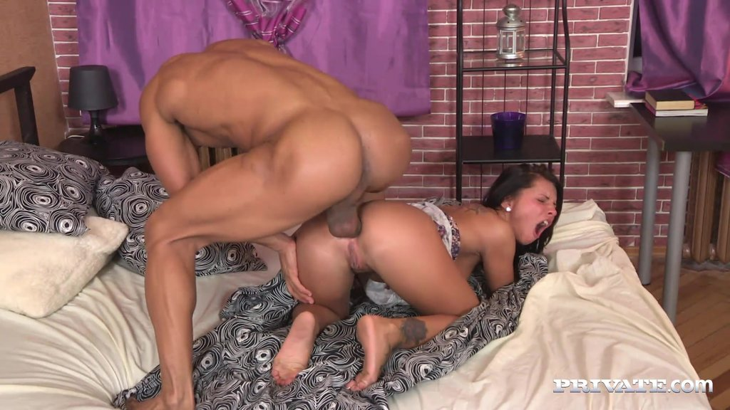 Charming Megan Has Interracial Sex With A Hot Dude