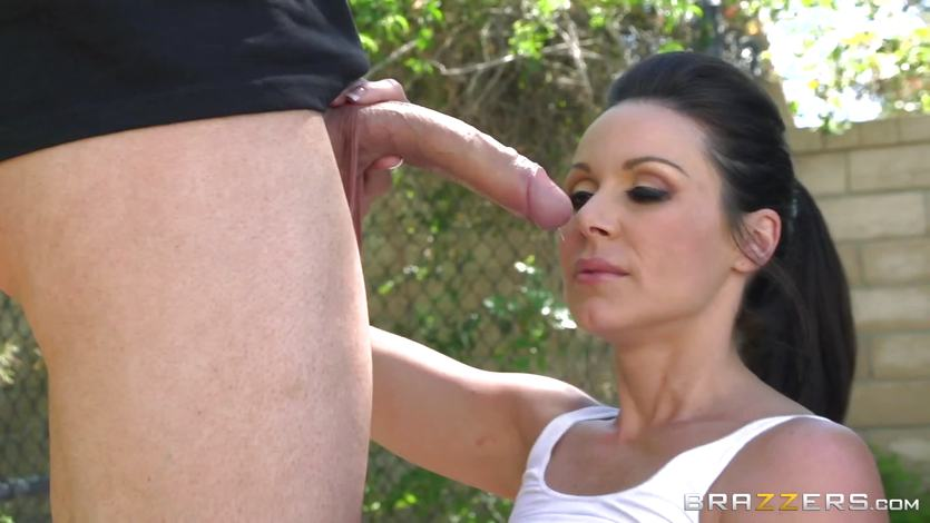 MILF Kendra Lust enjoys basketball and blowjobs | PornTube ®