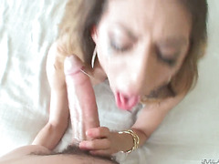 Jonni Darkko exlodes after Heather Vahn gives magic blowjob