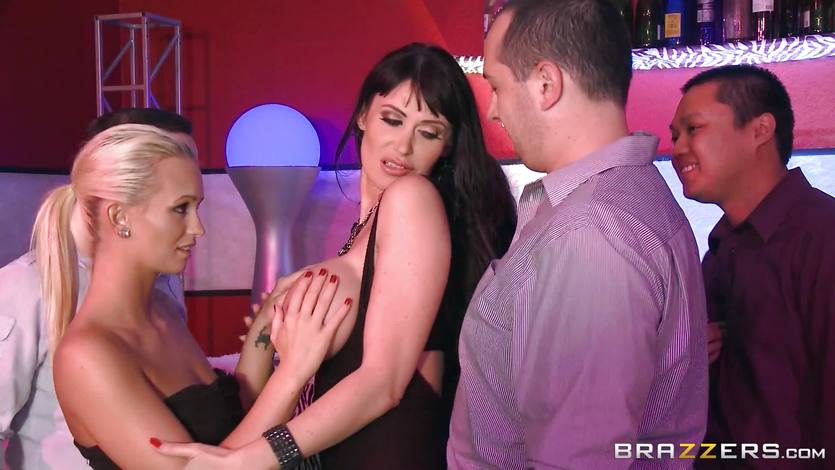 Cock craving MILF Eva Karera DP'd at the club | PornTube ®