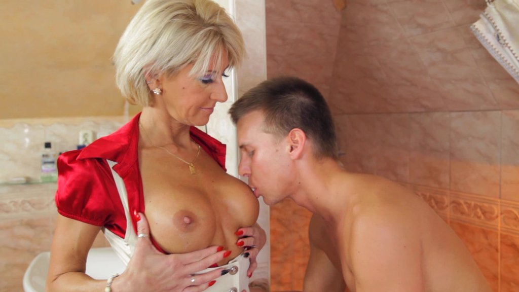 Big Tits Naughty Cougar Rides A Young Hot Stud's Huge Dick