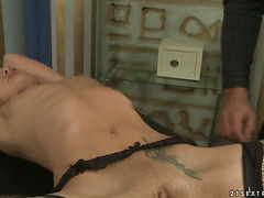 Brunette Andy Brown cant resist the desire to take