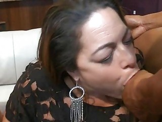 Alluring babes are sucking stripper dudes knobs