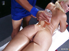 Anikka Albrite and hard cocked fuck