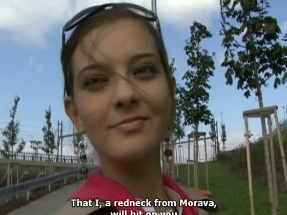Juicy amateur girl from Czech Republic allows to feel up her boobies - Public porn