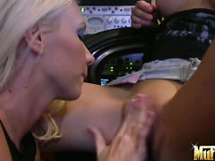 Blonde Molly Cavalli with juicy tits and smooth